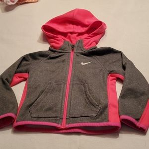 Nike Dri-fit girls zip up hoodie